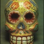 Photo of a Linares paper mache skull